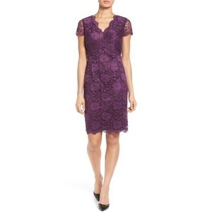 Ellen Tracy Lace V Neck Sheath Dress NWT
